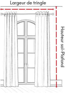 dimensions tissus rideaux