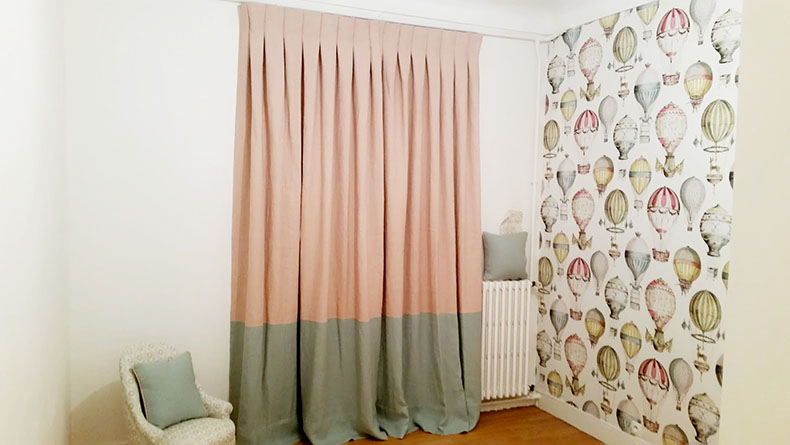 double-rideaux-plis-plats-avec-application-enfant-paris
