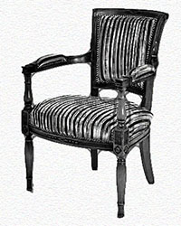 fauteuil-directoire-tissu