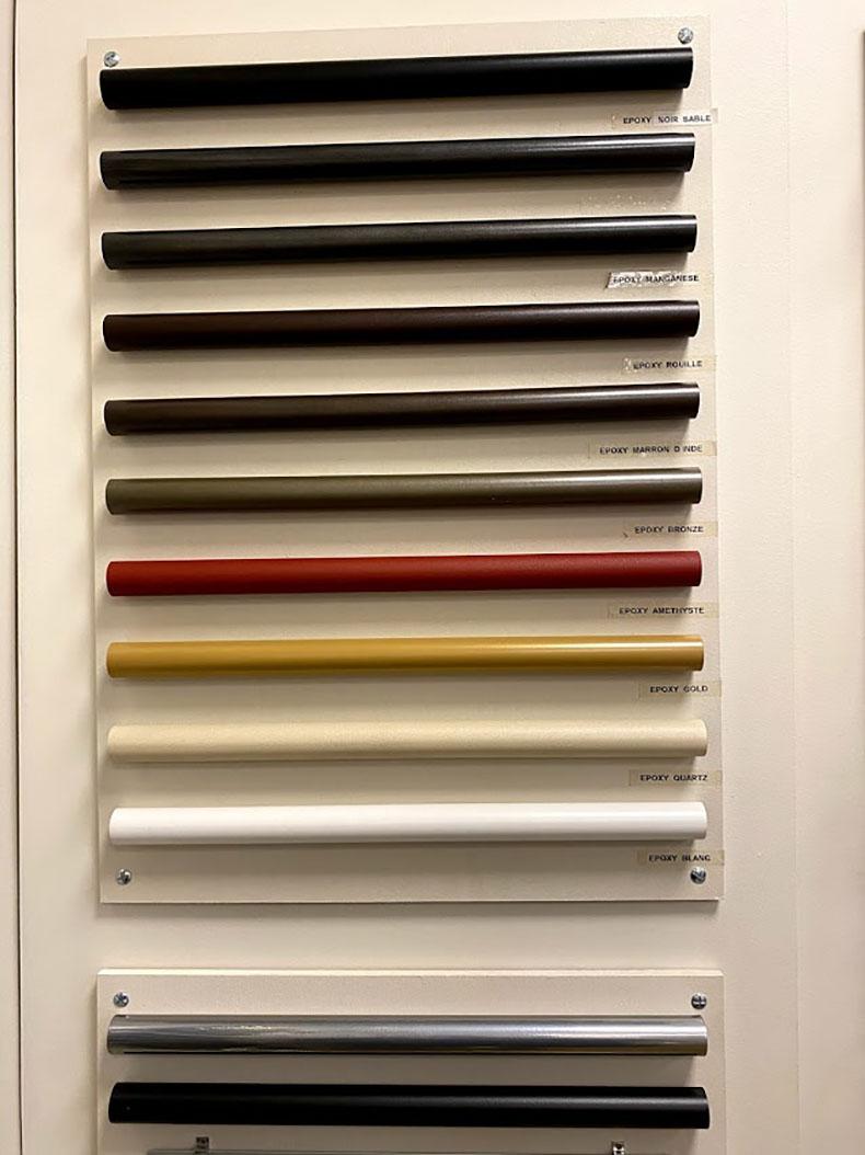 Gamme de coloris de tringles à rideau