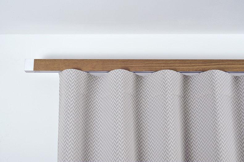 Houles tringle à rideau en bois sur rail