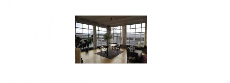 Appartement dans ancienne usine Rideaux thermiques en toile de coton isolante