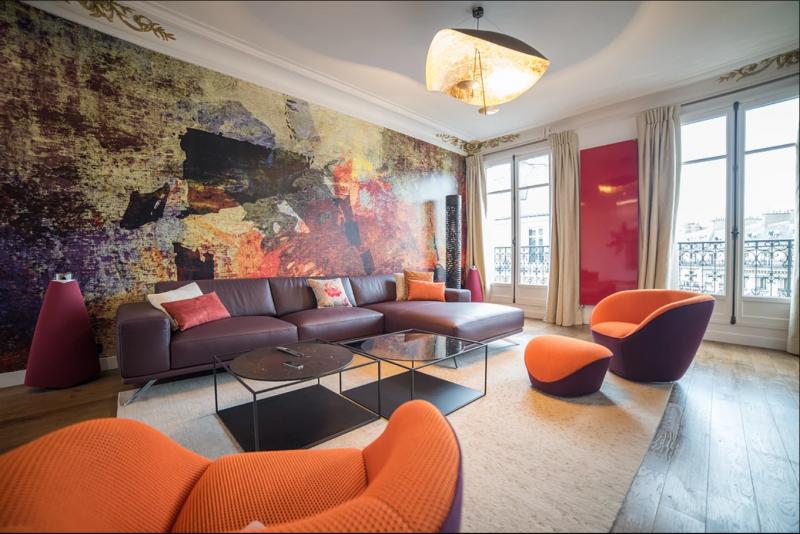 """Appartement d'exception """"Opéra"""" Paris  Réalisation de tous les rideaux et fourniture et pose des tringles"""