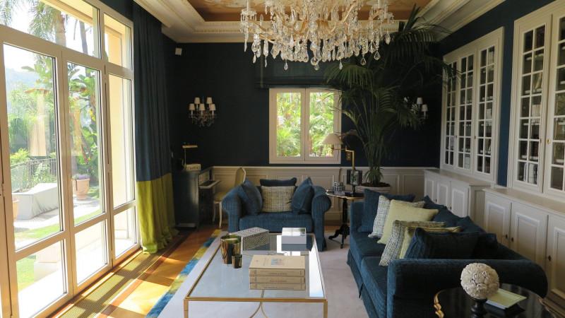 """Villa d'exception Côte D'Azur : Rideaux , stores """"bateau"""" Dessus de lit , Parement de lit"""